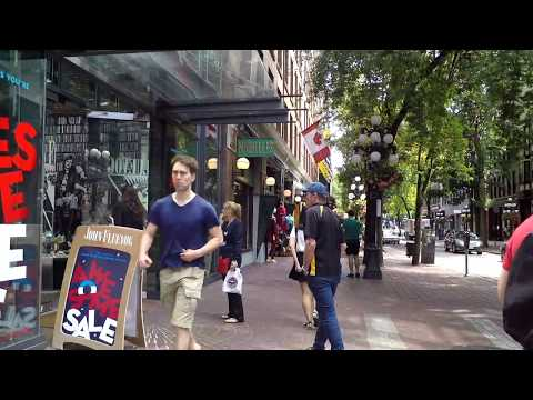 Walking To Gastown - Vancouver BC Canada - Famous Tourist Spot In Downtown