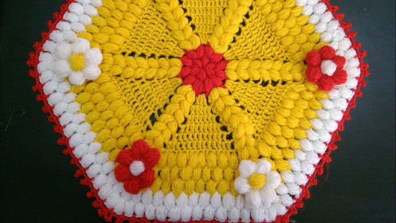 beautiful puff flower mat - 736×552