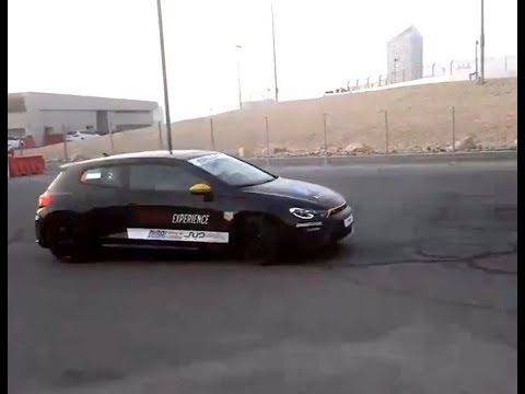 Drifting FWD car at Emirates Motorsport Expo in Dubai