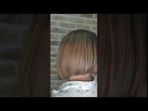 Удлиненное градуированное каре. Идеальная текстура - прямые волосы. Классическая стрижка. до после