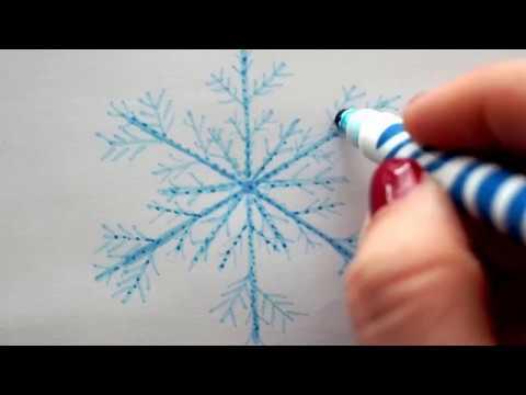 Einfache Schneeflocke Malen Youtube