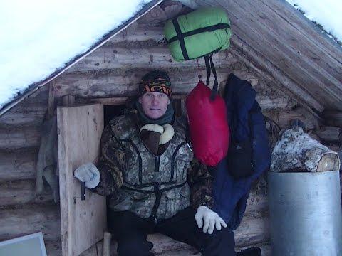 Кедровая избушка в тайге/На охотничьих лыжах/Балок/Жизнь в избушке
