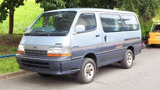 1992 Toyota Hiace 4WD Diesel 5-speed Manual (USA Import) Japan Auction Purchase Review