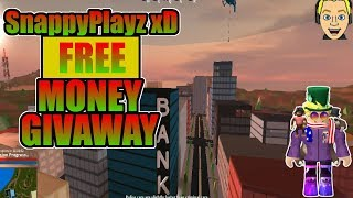 I AM BACK ON YOUTUBE! Roblox JailBreak Free Money Giveaway