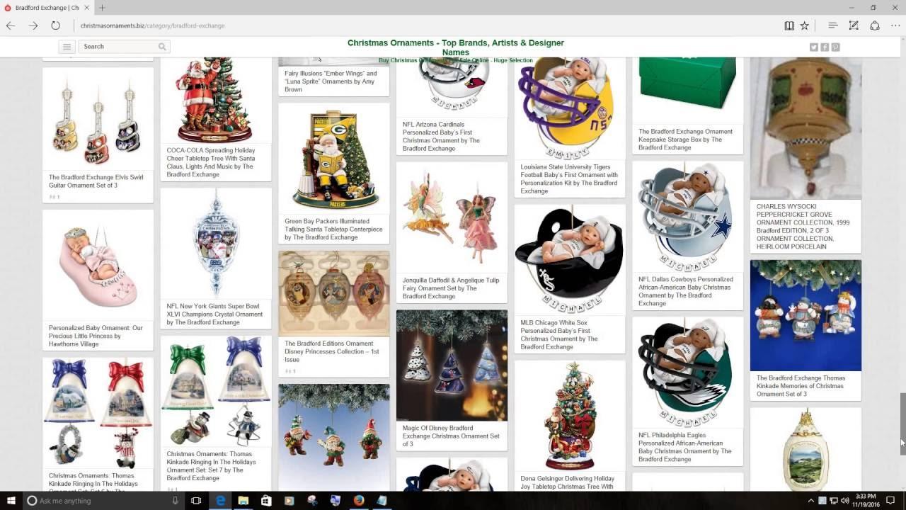 Bradford christmas ornaments - Bradford Exchange Christmas Ornaments
