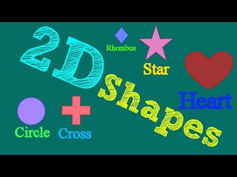 Shapes song   2D Shapes for kids  Little Star TV