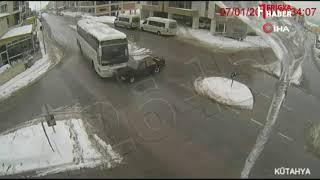 Kütahya'dan kaza görüntüleri