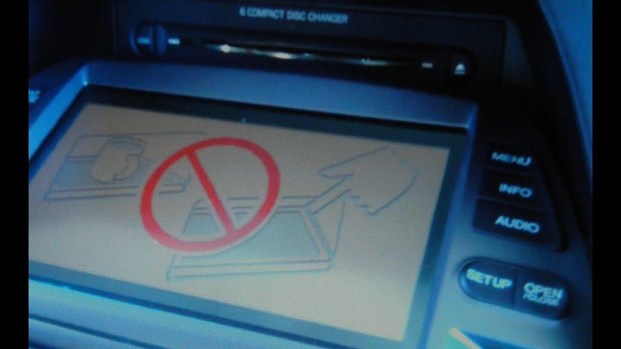 Honda Odyssey CD Changer Jammed - Nav Screen Stuck Down