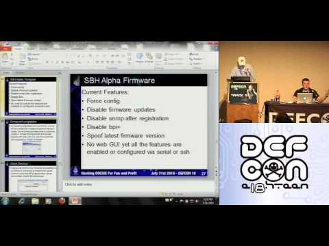 DEF CON 18 - Blake Self & bitemytaco - Hacking DOCSIS For Fun and Profit