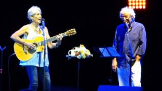 Joan Baez and Maxime Le Forestier - Don't think twice it's allright -  Nimes 22 07 2015
