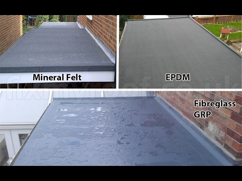 Flat Roof Waterproofing Membrane Materials Youtube