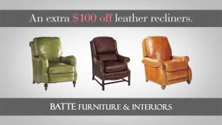 Leather Sale at Batte Furniture and Interiors
