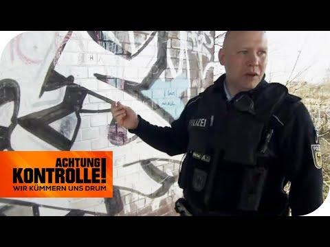 Graffiti-Alarm! Polizei auf der Suche nach Sprayern!   Achtung Kontrolle   kabel eins