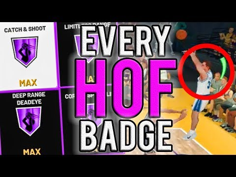 NEW FASTEST WAY TO GET ALL HOF SHARPSHOOTER BADGES IN NBA 2K19