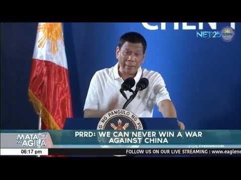 Pangulong Duterte hinamon ang US,