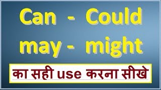 Can, Could, May, Might with correct use in english grammar