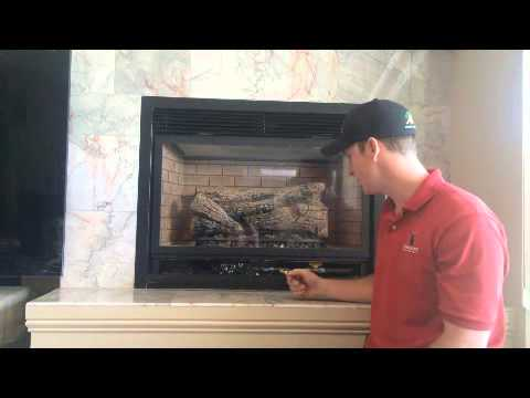 This is an instructional video on how to shut off your standing pilot gas fireplace.