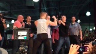 Conor McGregor-Nate Diaz UFC 196 press conference staredown