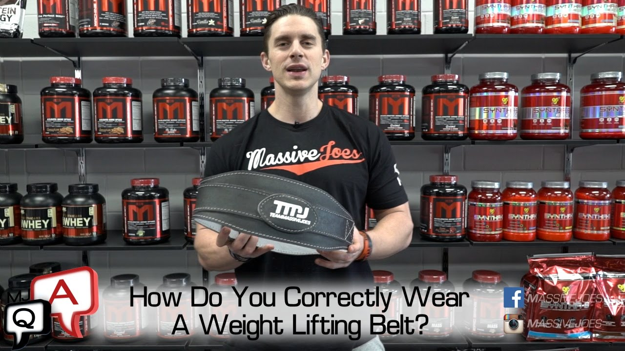 How Do You Correctly Wear A Weight Lifting Belt ...