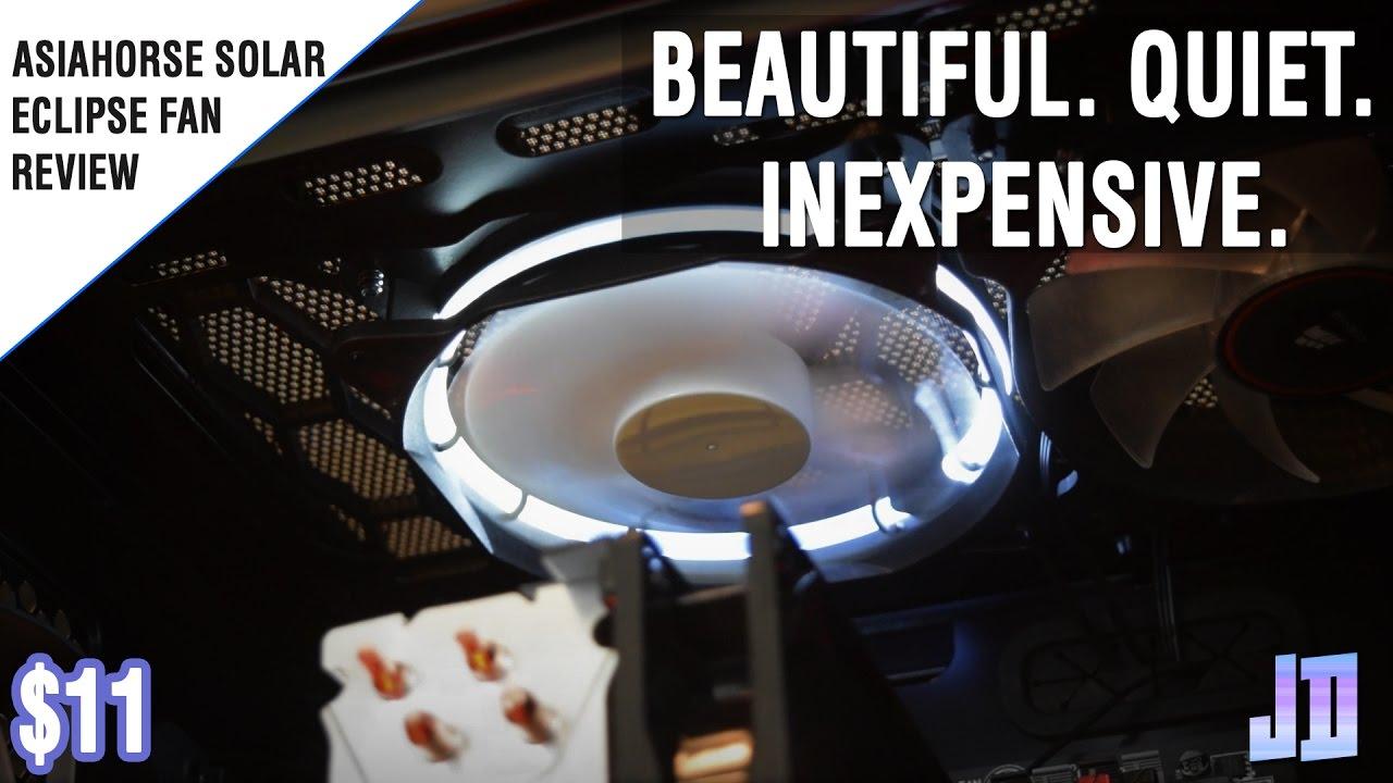 4 x Game Max Eclipse RGB 16.8 Million Colours LED Ring 120mm 12cm PC Case Fans