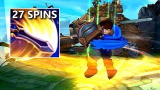 27 SPINS per 1 GAREN E! New Garen + Attack Speed!