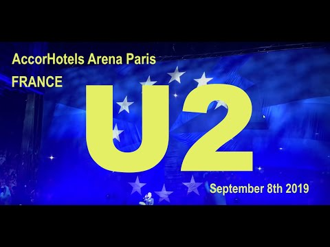 U2 Live Full Concert 4K @ AccorHotels Arena Paris France 8 September 2018 eXPERIENCE+iNNOCENCE Tour
