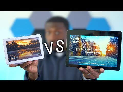 SHOWDOWN: Google Home Hub VS New Amazon Echo Show!