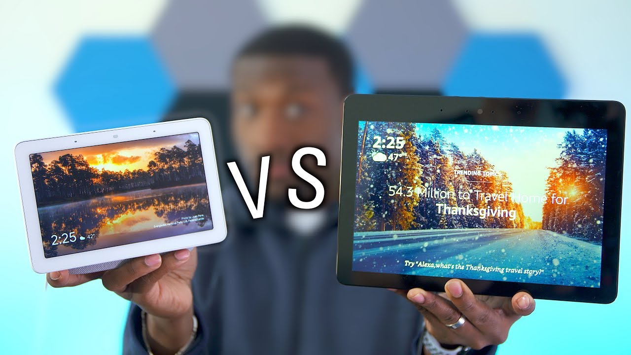 Showdown Google Home Hub Vs New Amazon Echo Show Youtube