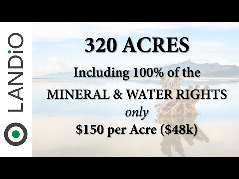 Land For Sale in Utah : 320 Acres bordering BLM Land near the Bonneville Salt Flats & Salt Lake City
