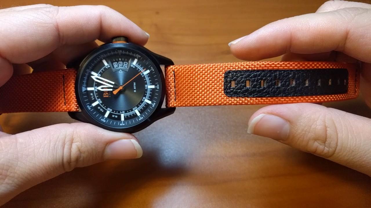 0da6c45fb06 BOSS Orange Men s  HONG KONG SPORT  Quartz Resin and Nylon Casual Watch