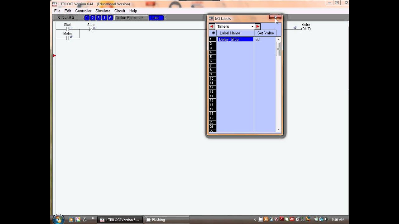 Plc Programming With Trilogi Lesson 2 Youtube Latched Circuit Example