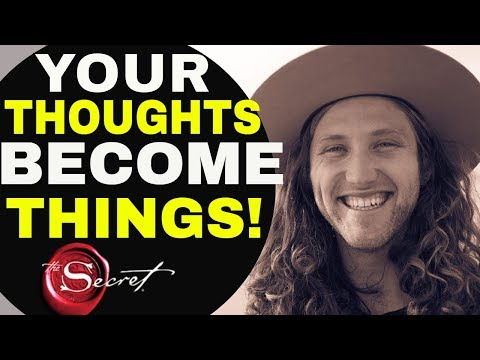 """""""THOUGHTS BECOME THINGS"""" – Most Powerful Law of Attraction Technique Not In The Secret Movie!!"""