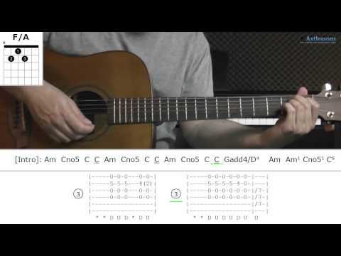 How to play Skinny Love with Bon Iver (Guitar lesson)