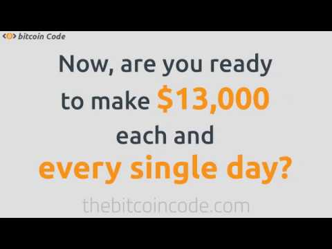 """""""The Bitcoin Code"""" - Steve Mckay Bitcoin Code Software Ltd Trading App System - Make $13000 Today!"""
