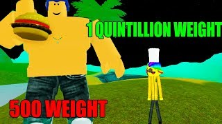 ROBLOX EATING SIMULATOR *1 QUINTILLION WEIGHT!*