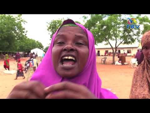 Drama in Garissa as residents displaced by floods clashed with police over relief food