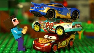 На Старт, Внимание, ФАРШ - Машинки ТАЧКИ 3 vs Лего Нубик Майнкрафт - Мультики LEGO Minecraft