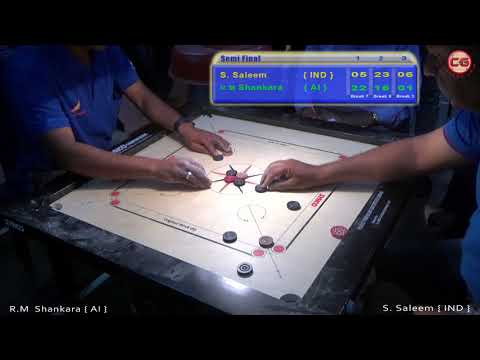 SF Set 3 R M Shankara Vs S. Saleem 32th Annual Karnataka State Carrom Championship 2017-18