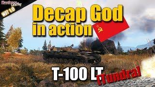 WOT: T-100 LT, extreme entertaining light tank carry, Tundra, WORLD OF TANKS