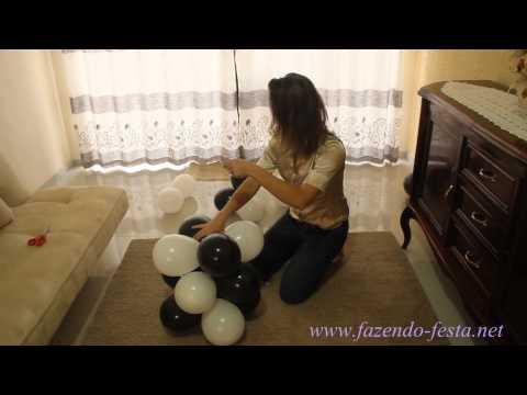 como fazer coluna de baloes