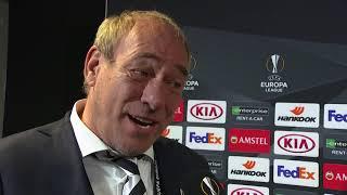 Da Costa, Abraham, Haller, Fischer, Hütter und Fonseca im DAZN Interview nach Frankfurt vs Donetsk.
