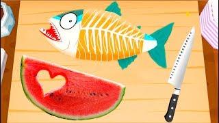 ГОТОВКА ЧЕЛЛЕНДЖ суши роллы ГНИЛОЙ АРБУЗ с ПЕРЦЕМ и Рыба для котенка Игры для детей KIDS CHILDREN