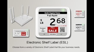 Electronic Shelf Label ( E.S.L ) for Retail Business - Presented by ARKSCAN.COM