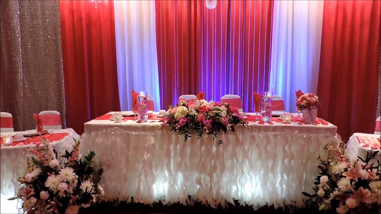 wedding reception decor flowers arrangement idea 39 s youtube. Black Bedroom Furniture Sets. Home Design Ideas