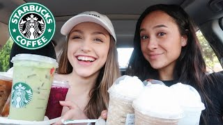 Trying my subscribers CRAZY Starbucks drinks PT. 2!