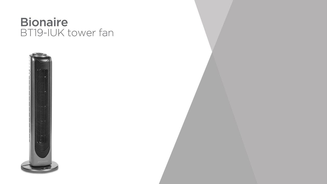 Bionaire BT19-IUK Tower Fan - Black & Silver | Product