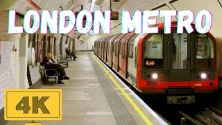 Underground Metro London, United Kingdom: The video shows the glimp...