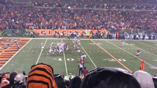Peyton Manning Sacked by Taylor Mays! Live MNF Broncos vs Bengals