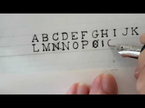 Handwritten Uppercase Typewriter Font, Including The Odd Fudge-up