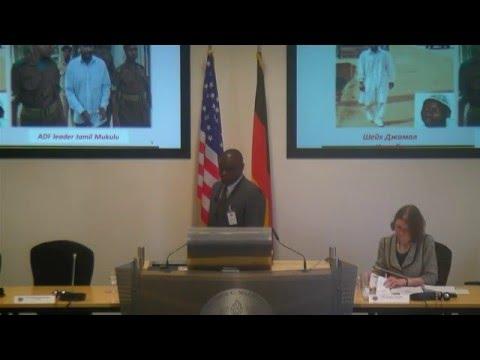 COL Tingira Irumba Talks Foreign Fighters in Uganda at Terrorism Workshop 18NOV15